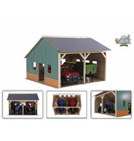 Kids Globe Kids Globe 610338 - Tractorloods voor 2 tractoren (1:16 / Bruder)