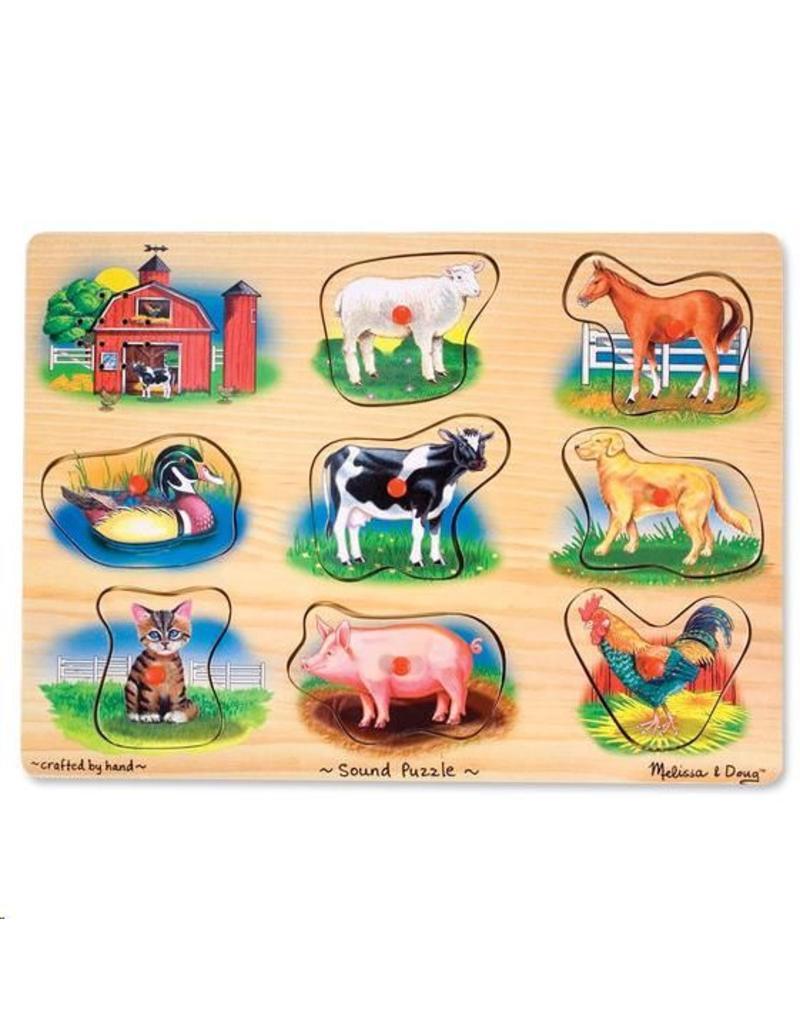 Geluidpuzzel boerderij klassiek