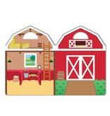 Herbruikbare puffy stickerblok boerderij