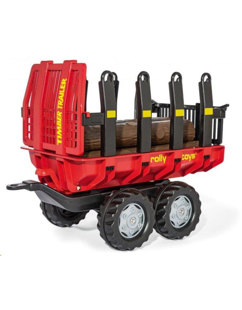 Rolly Toys Rolly Toys 123254 - Timber Trailer rood met zwart