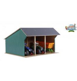 Kids Globe Kids Globe 610193 - Grote tractor loods / kapschuur 1:32