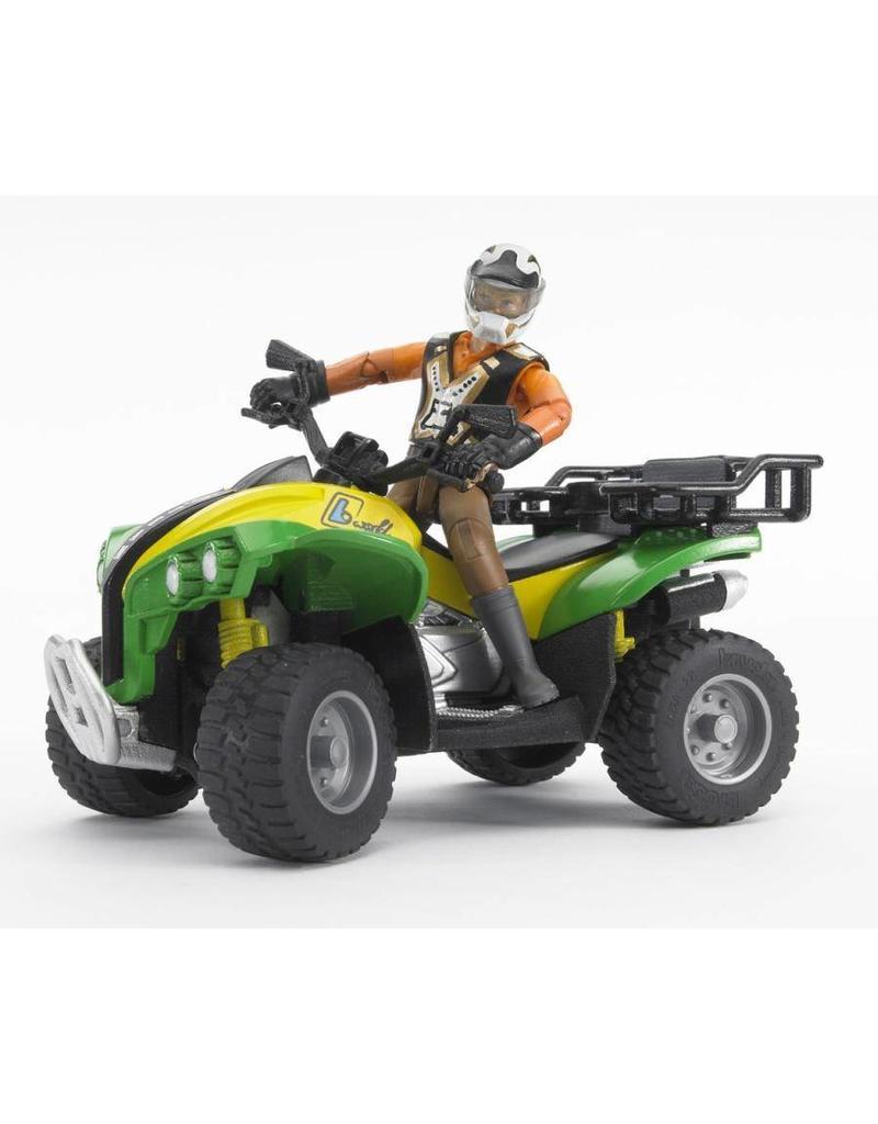 Bruder Bruder 63000U - Quad met bestuurder (groen/geel)