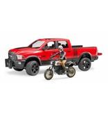 Bruder Bruder 2502 - RAM 25 Power Wagon met Ducati motor en berijder