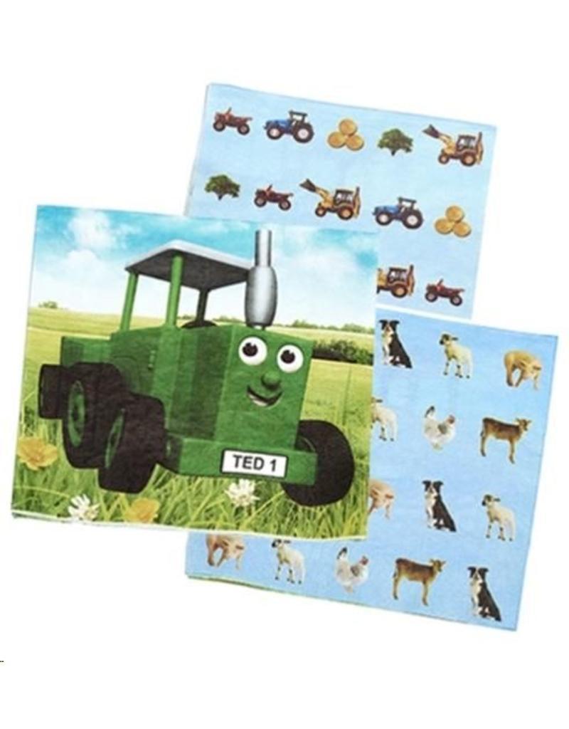 Tractor Ted Tractor Ted - Party Servetten - 16 stuks
