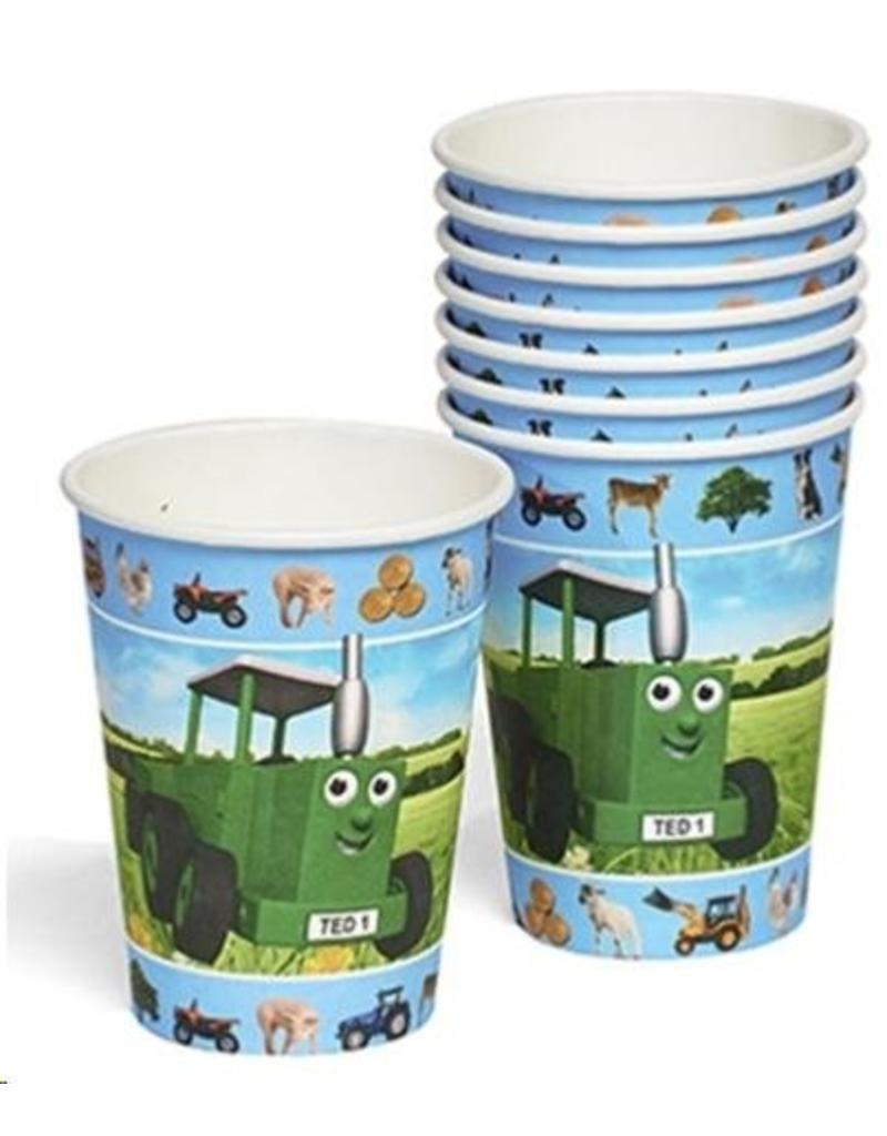 Tractor Ted Tractor Ted - Party Bekers - 8 stuks