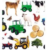 Tractor Ted Tractor Ted - Muurstickers 20 stuks