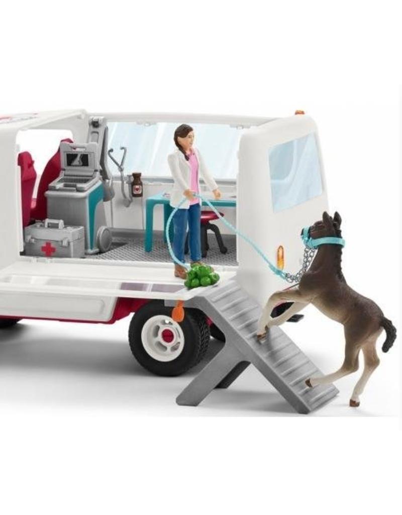 Schleich Schleich Horses 42370 - Mobiele dierenarts met Hannover veulen