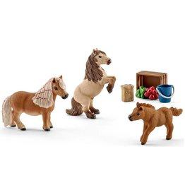 Schleich Schleich Horses 41432 - Familie van Mini Shetlands