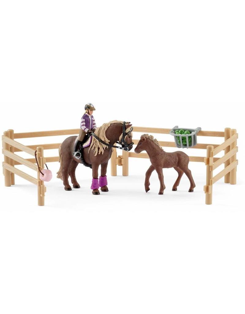 Schleich Schleich Horses 42363 - Ruiter met IJslandse Ponys