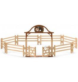 Schleich Schleich Horses 42434 - Omheining voor paarden met poort