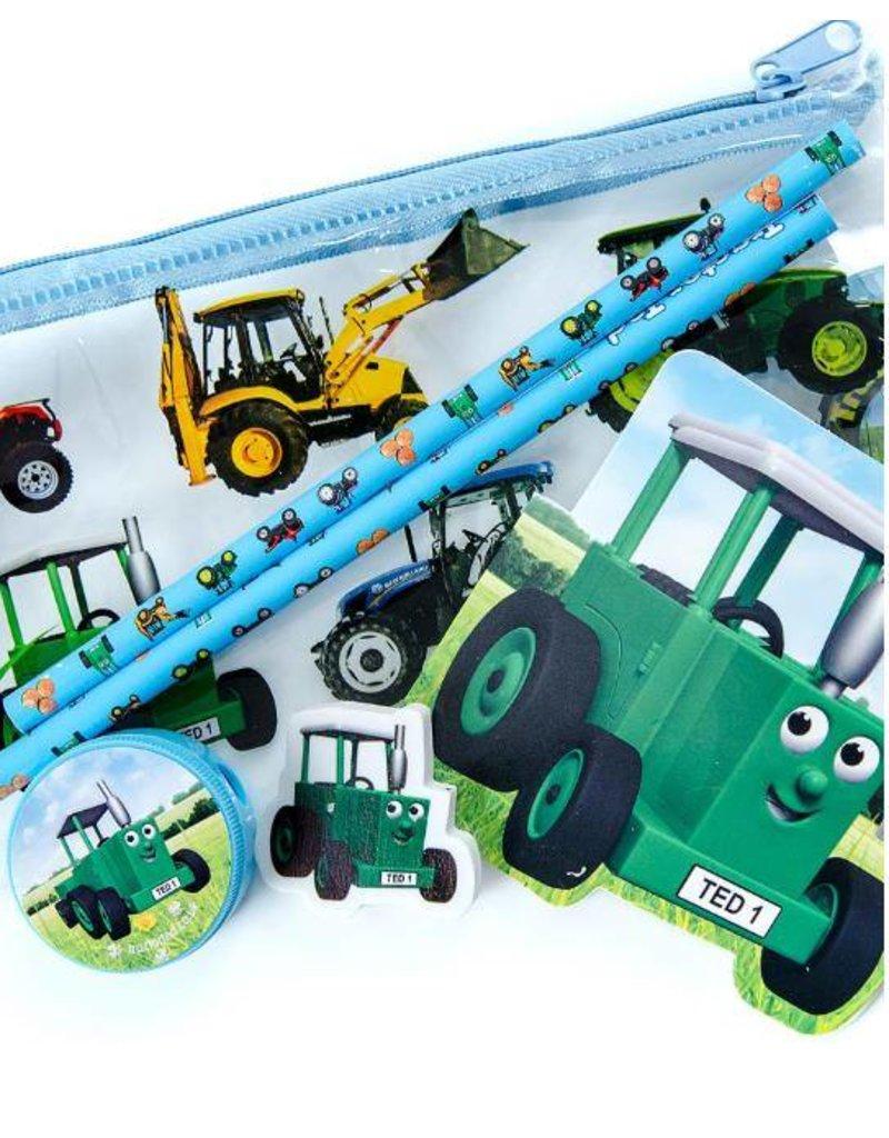Tractor Ted Tractor Ted - Etui met potloden, gum, memoblok en puntenslijper