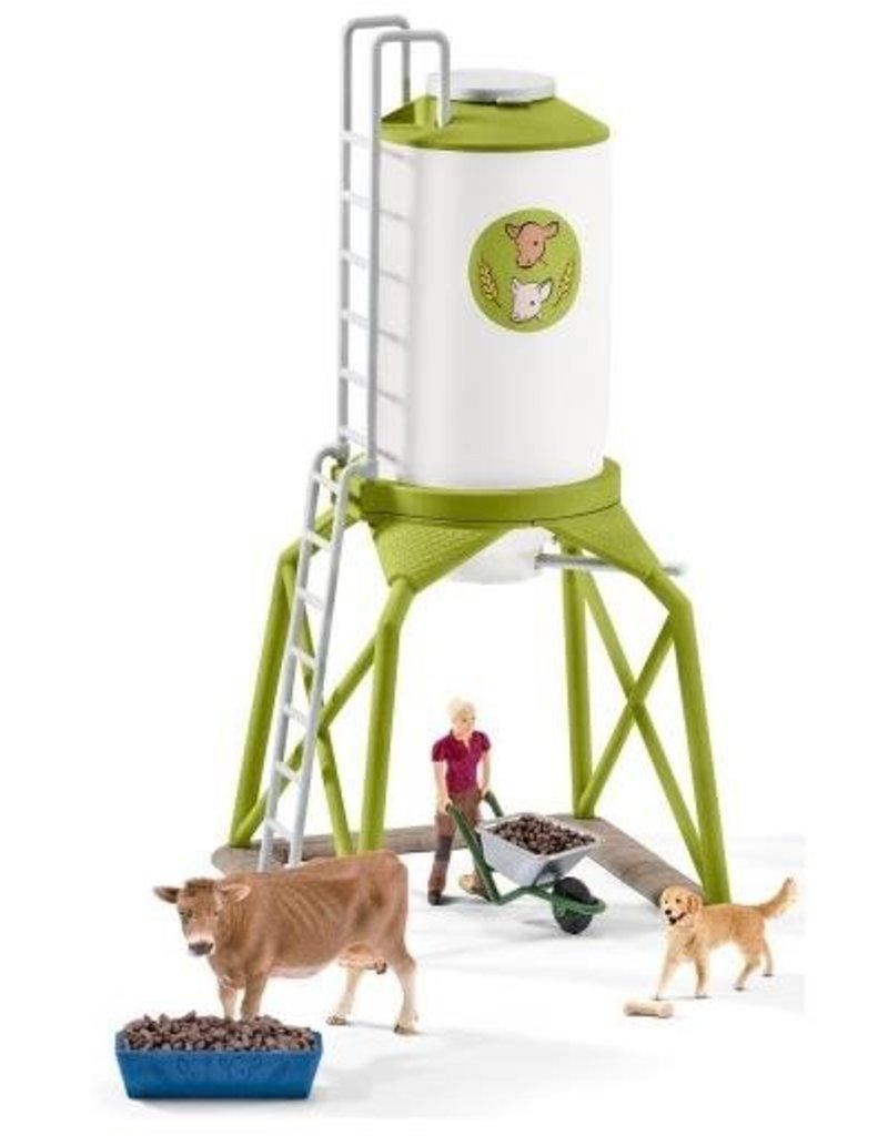 Schleich Schleich Farm 41429 - Voedersilo met dieren