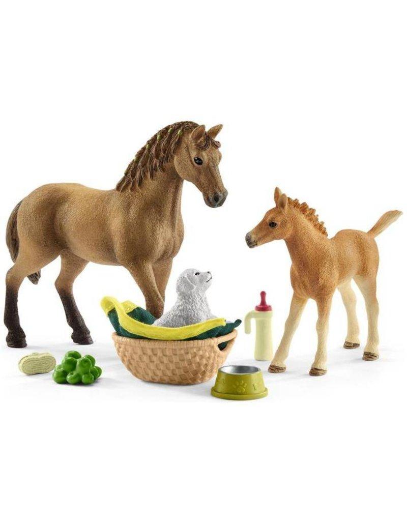 Schleich Schleich Horses 42432 - Babydieren verzorgingsset