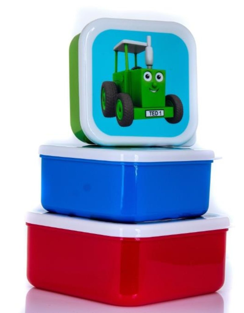 Tractor Ted Tractor Ted - Snackbakjes Tractoren (3 stuks)