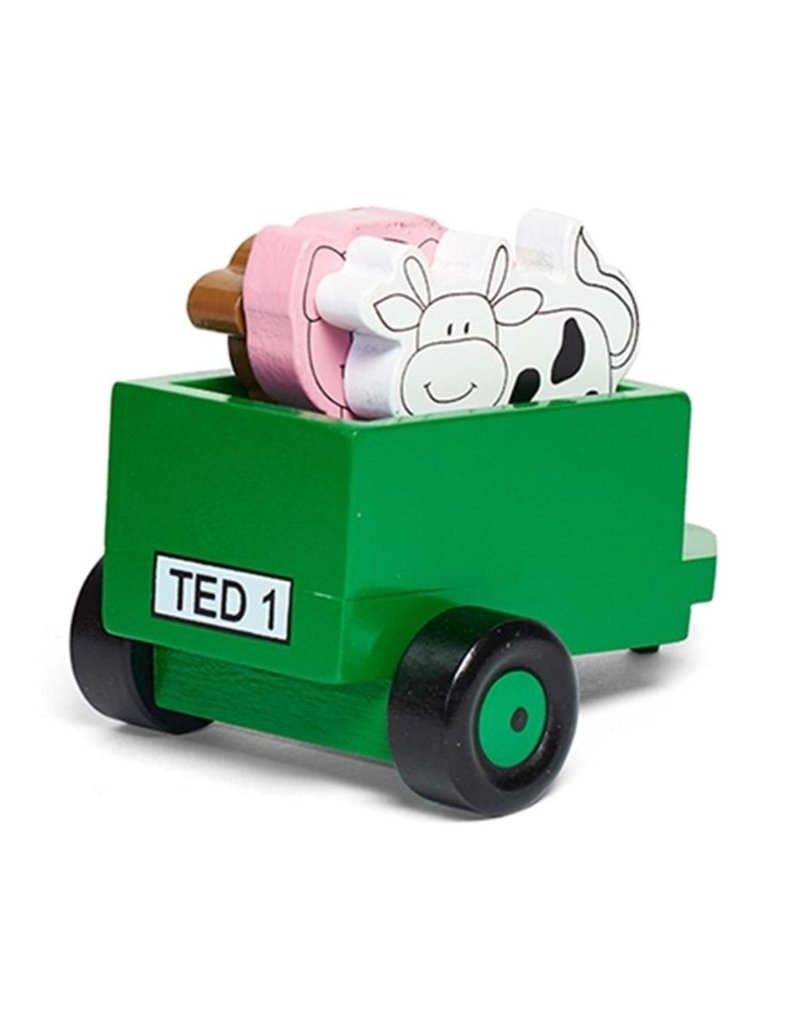 Tractor Ted Tractor Ted - aanhanger / houten trailer
