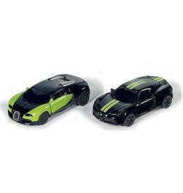 Siku Siku 6309 - Geschenkset Special Edition 2-delig Bugatti Veyron & Alfa 4c - zwart/gr 1:87