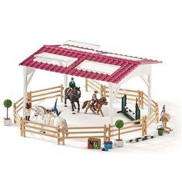 Schleich Schleich 42389 - Ruiterschool met ruiter en paarden