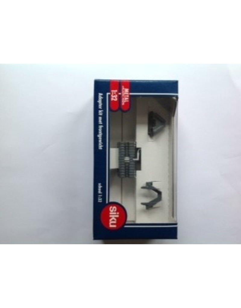 Siku Siku 3095 - Adapterset licht Grijs  met frontgewicht 1:32