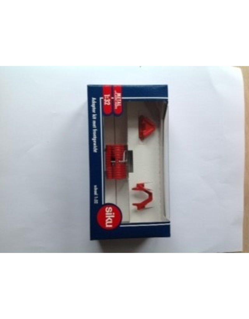 Siku Siku 3095 - Adapterset Rood met frontgewicht 1:32