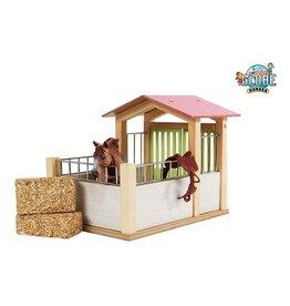 Kids Globe Kids Globe 610206 - Paardenbox roze 1:24 (geschikt voor Schleich)