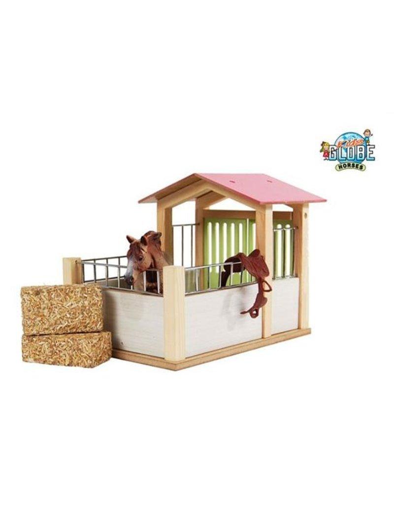 Kids Globe 610206 - Paardenbox roze 1:24 (geschikt voor Schleich)