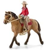 Schleich Schleich Horses 42359 - Western Ruiter met Paard