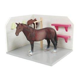 Kids Globe 610205 - Paarden Wasbox roze 1:24 (geschikt voor Schleich)