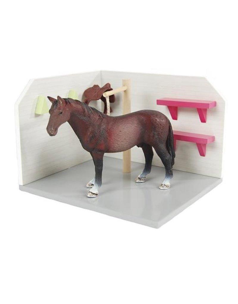 Kids Globe Kids Globe 610205 - Paarden Wasbox roze 1:24 (geschikt voor Schleich)