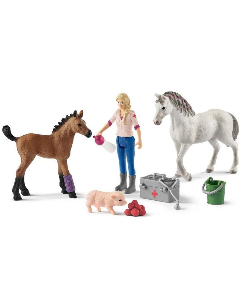 Schleich Schleich Horses 42486 -  Dierenarts met Merrie en Veulen