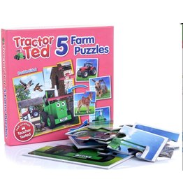 Tractor Ted Tractor Ted - 5x stevige puzzel in 1 doos