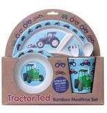 Tractor Ted Tractor Ted - Giftset Bamboo Tractor: Beker, Bakje/Kom, 3 vaks bord met bestek