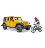 Bruder Bruder 2543 - Jeep Wrangler Rubicon Unlimited met mountainbike en speelfiguur