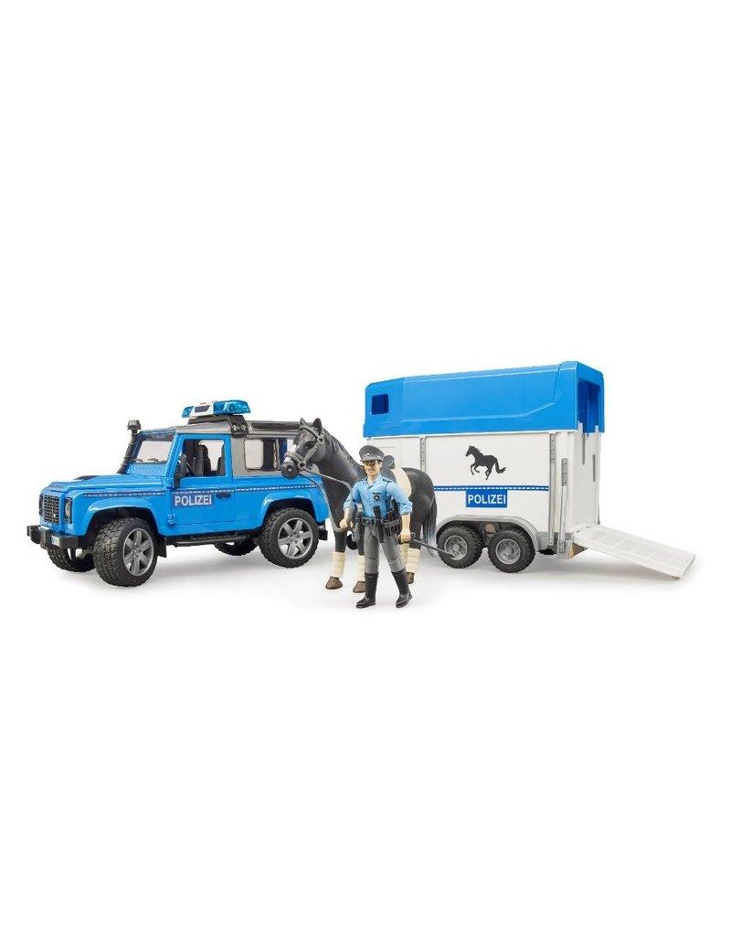 Bruder Bruder 2588 - Politieset Land Rover + paardentrailer