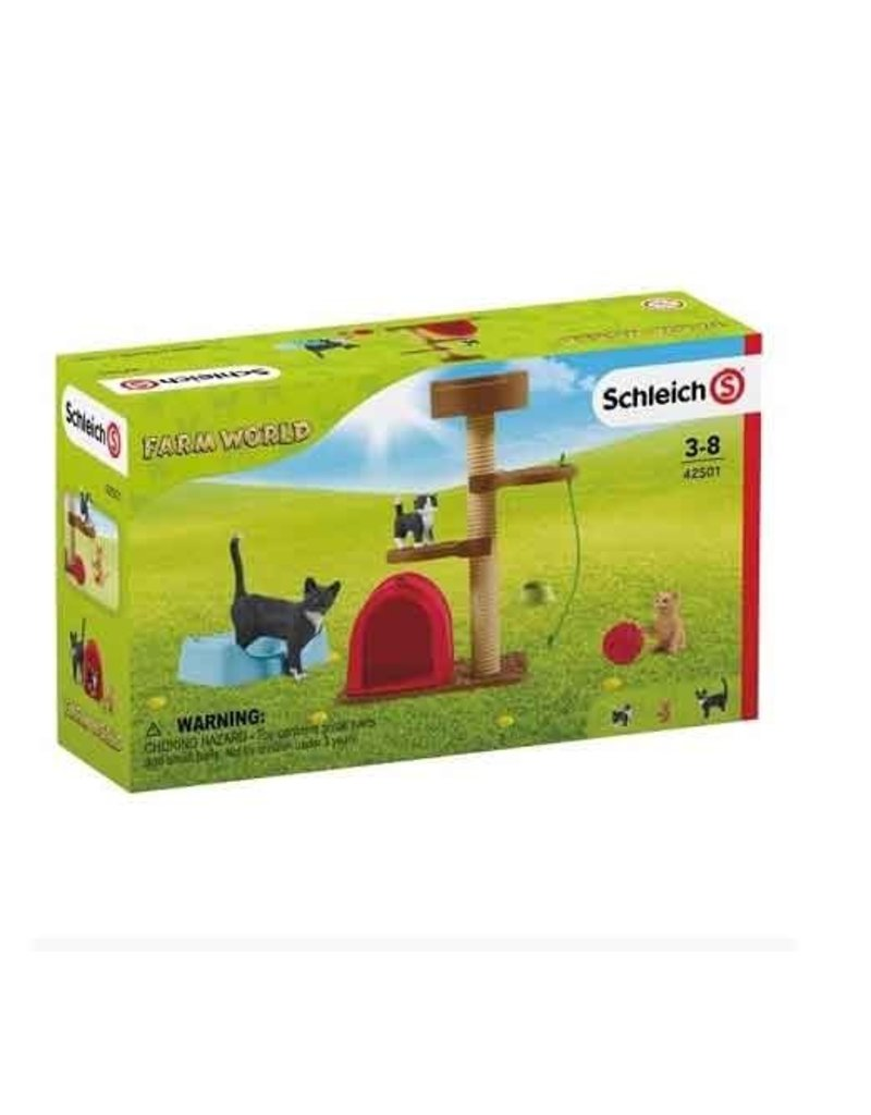 Schleich Schleich Farm 42501 - Krabpaal set met katten