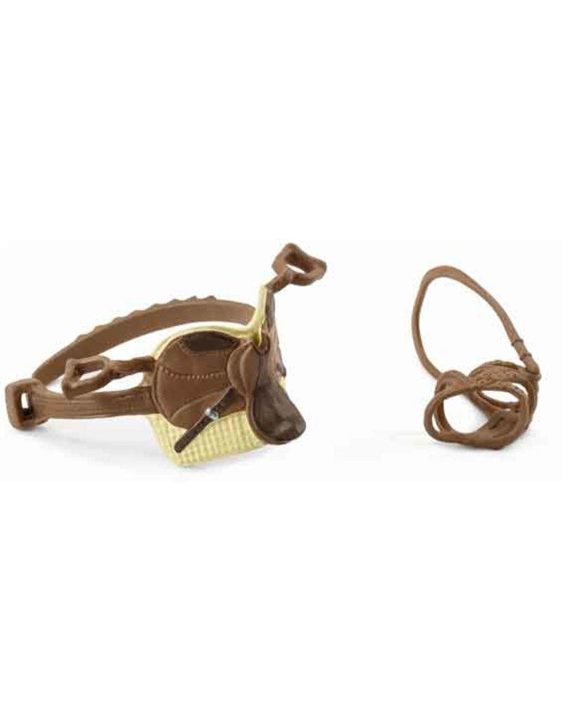Schleich Schleich Horses 42492 - zadel en hoofdstel Sarah & Mystery