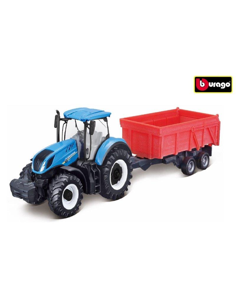 Bburago 520174 - New Holland met kiepwagen