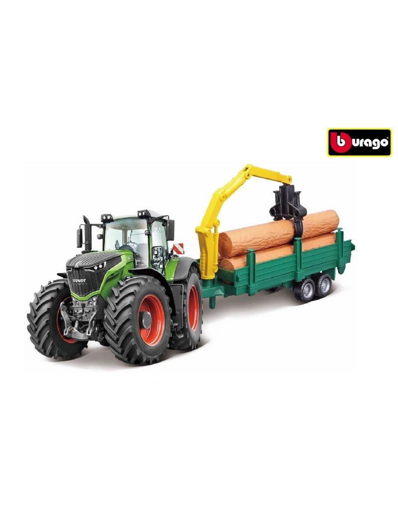Bburago 520167 - Fendt 1050 Vario met bosbouw aanhanger