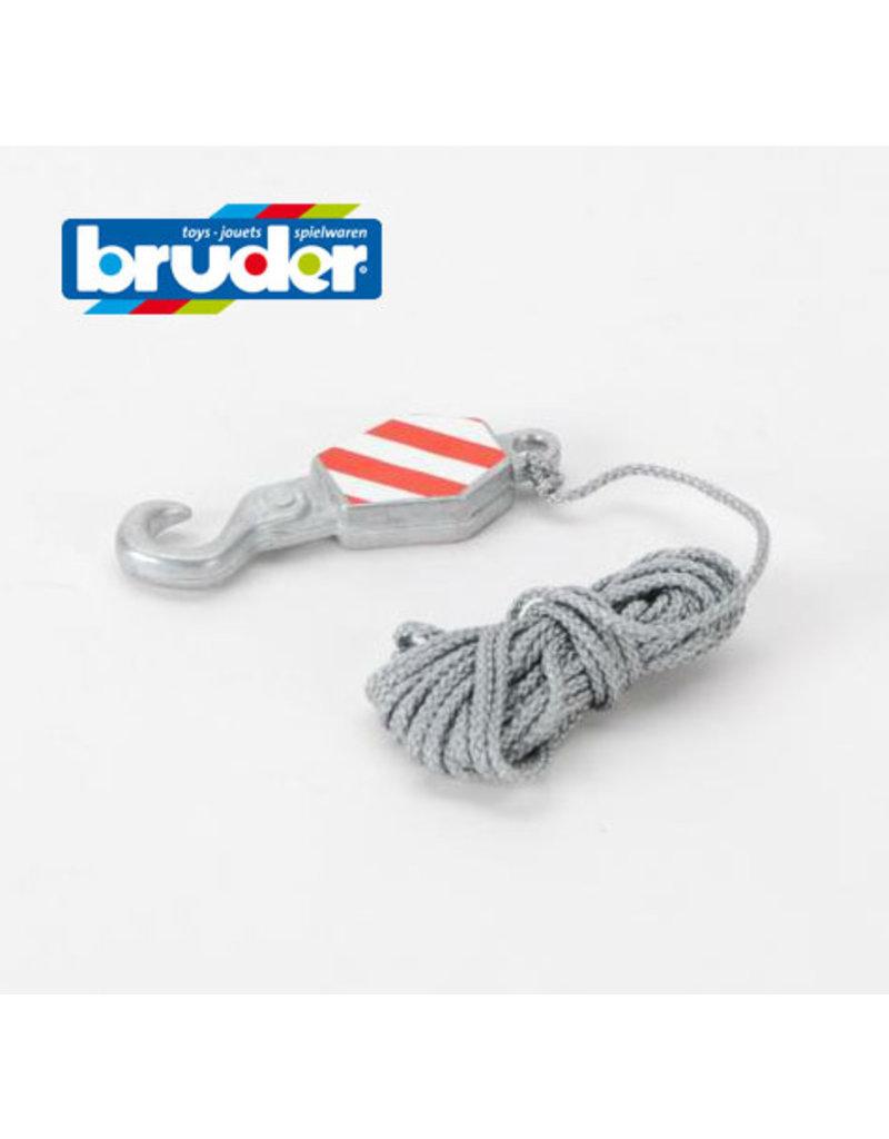 Bruder Bruder Onderdeel 43579 - Kraanhaak met touw