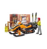 Bruder Bruder 63102 - Berghut met snowmobil