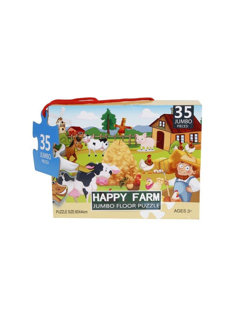 680002 - Vloerpuzzel Happy Farm 35 stukjes