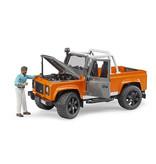 Bruder Bruder 2591 - Land Rover pick-up (oranje/grijs)