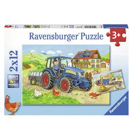 Puzzel Ravensburger boerderij/bouwplaats