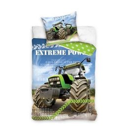 Dekbed groene Tractor