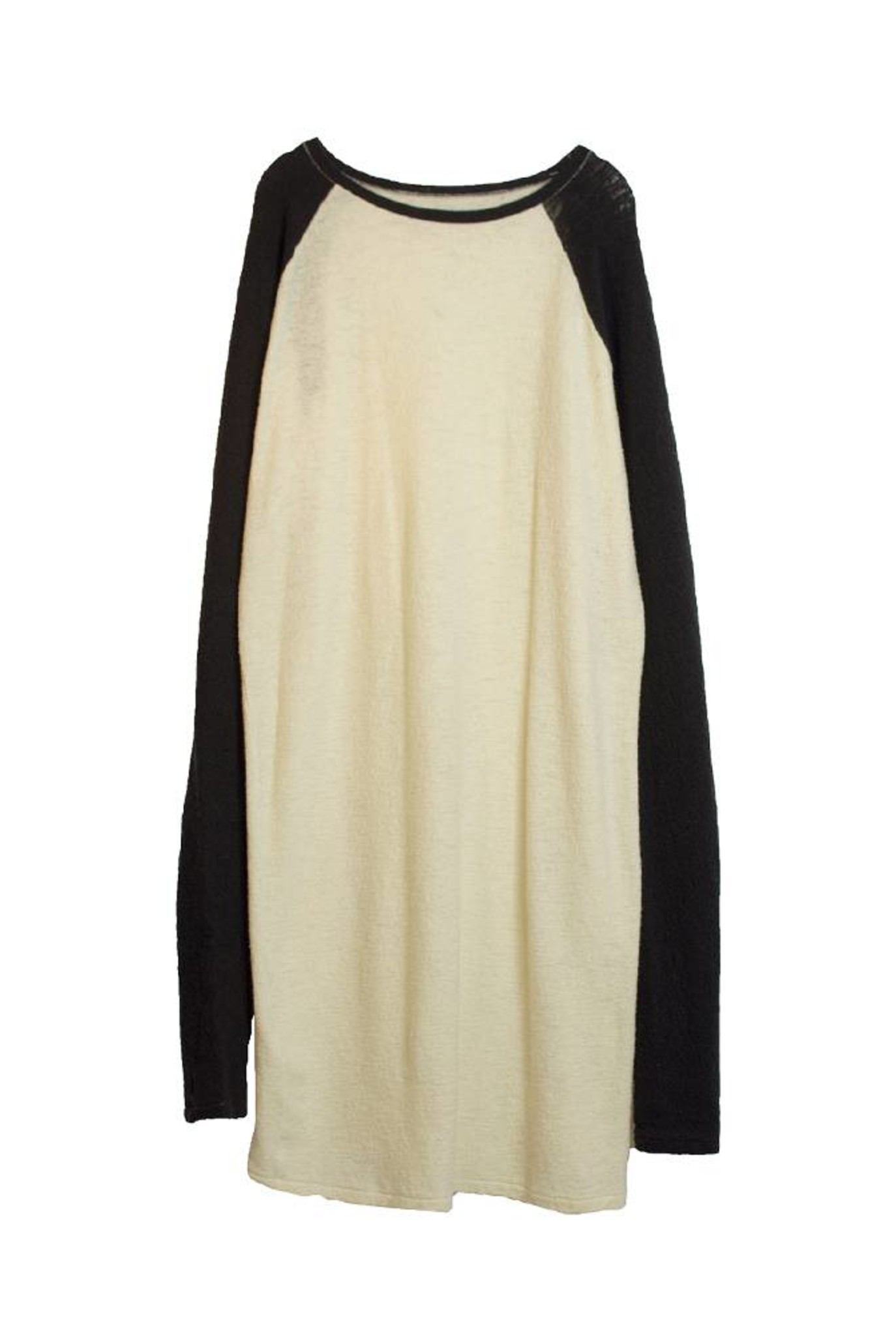 Long raglan sleeve dress ivory navy