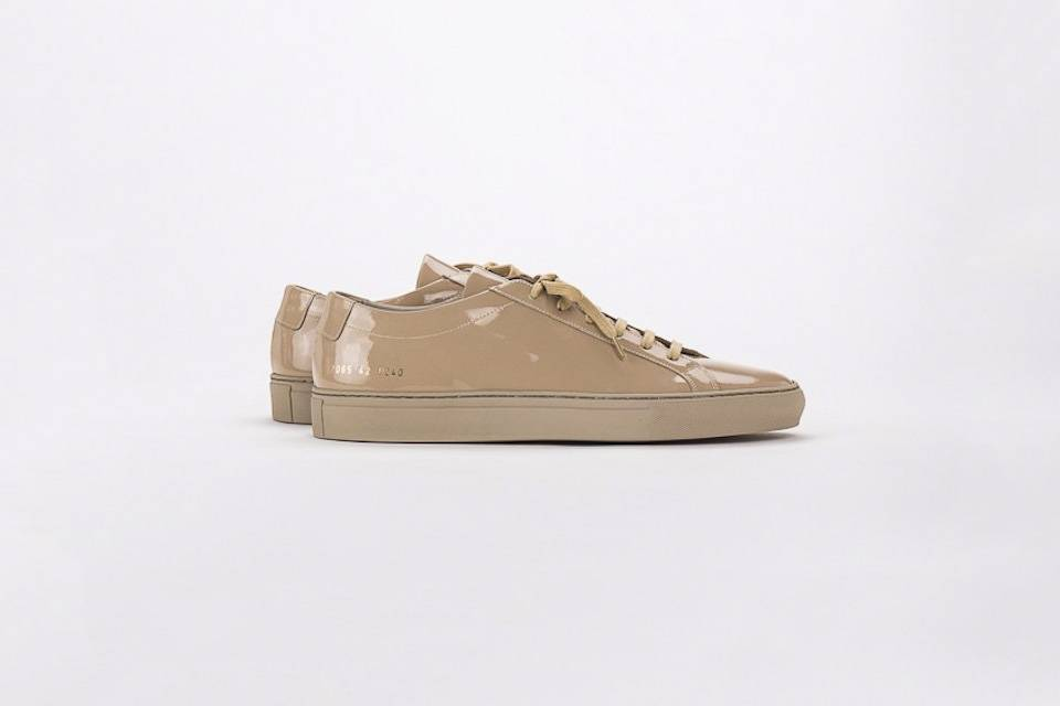 3fac9e640553f Common projects achilles low sneaker gloss taupe - Objet Trouvé