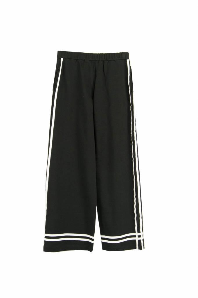 Jersey jogging pantalon black stripe