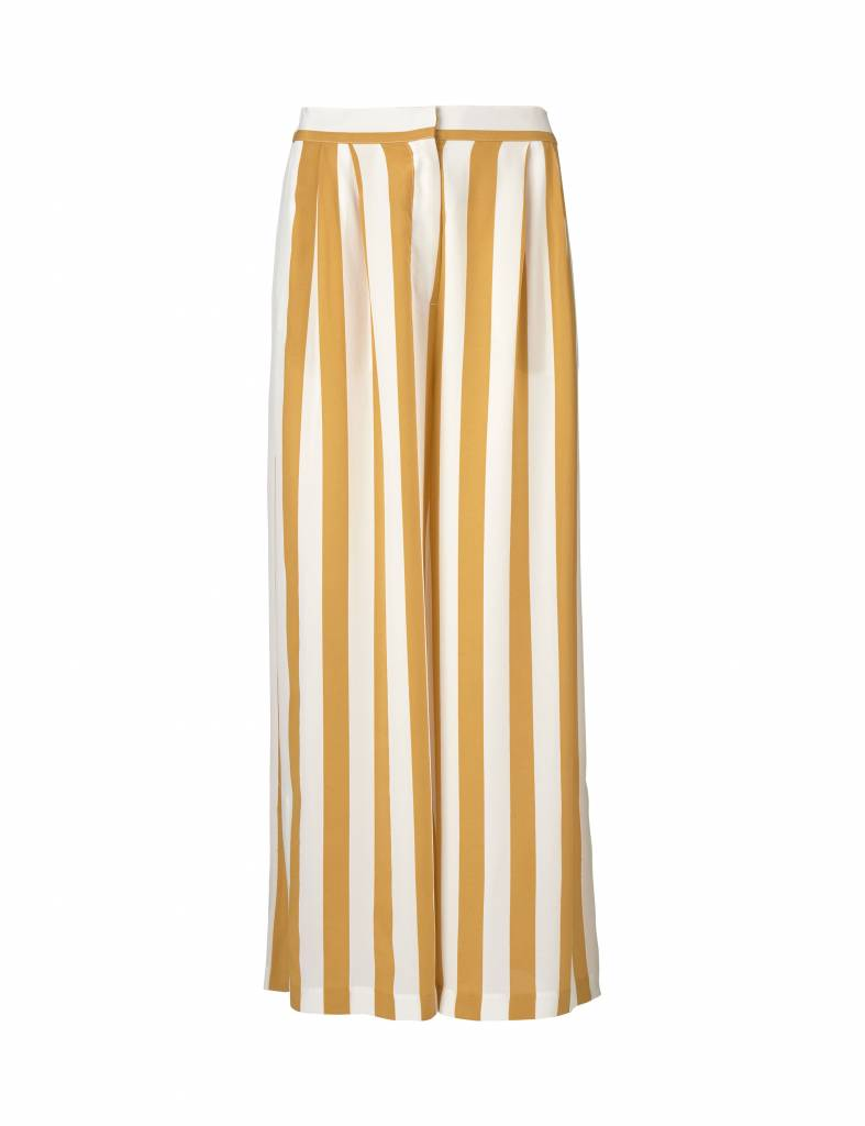 Kokoon Cecco slit pants honey/white stripe