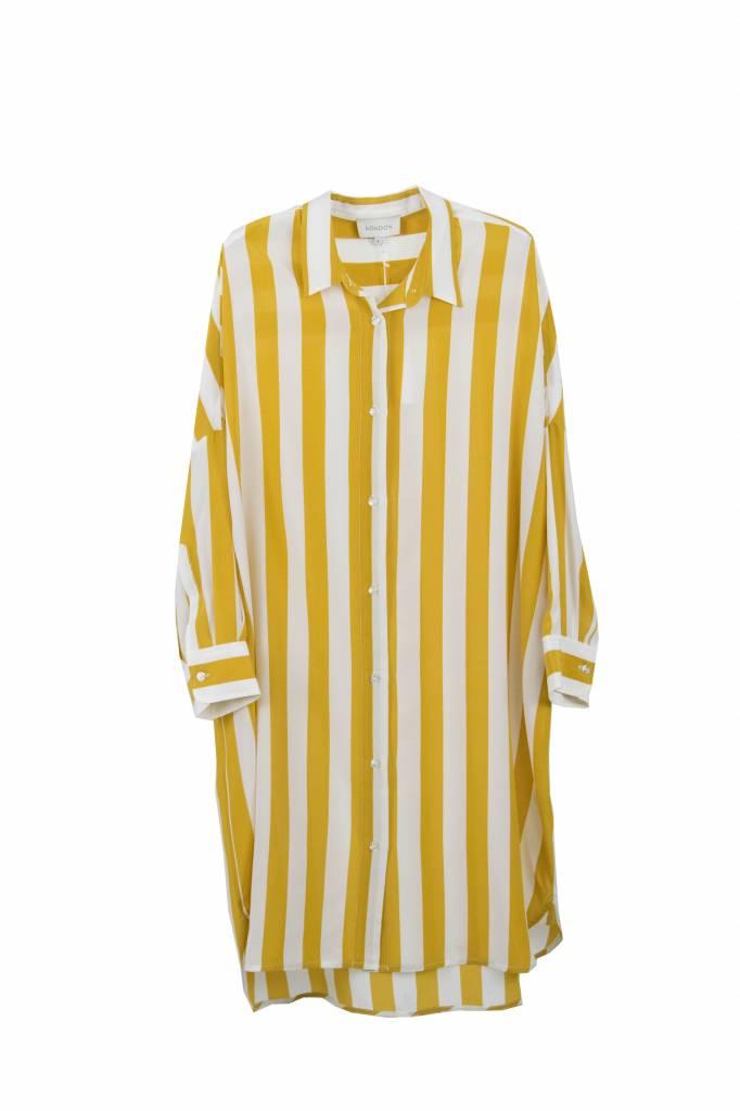 Kokoon Duke shirt dress honey/white stripe