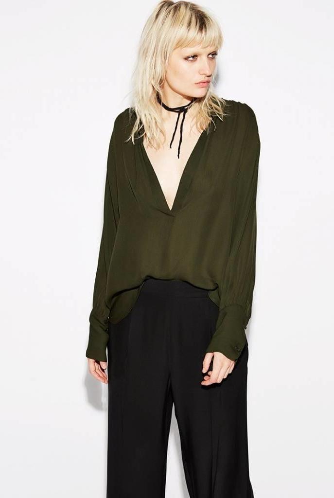 Colette blouse green loden