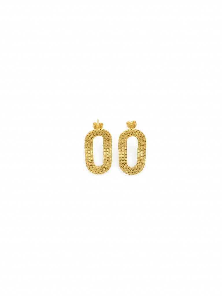 Martine Viergever O o Romeo earrings gold